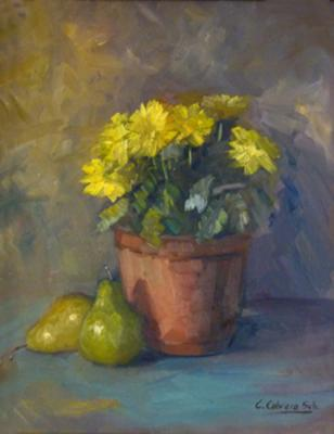Yellow's Maules with pears,